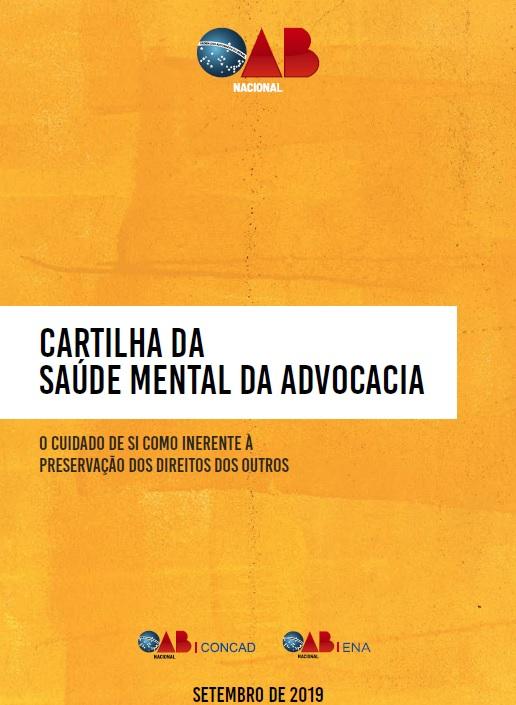 CARTILHA DA SAUDE MENTAL DA ADVOCACIA