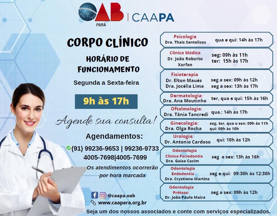 CORPO CLINICO SETEMBRO 2021